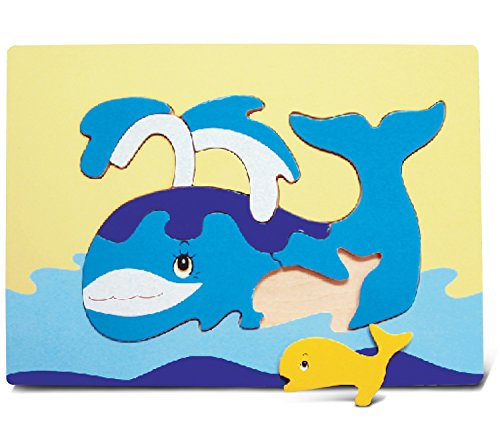 Puzzled Whale Wooden Fun Puzzle - 1