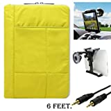 Pillow Edition Protective Lightweight Sleeve For Acer Iconia A Series A700 A710 A510 A500 A200 A210 + Auxiliary Cable + Windshield Car Mount