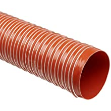 Heat-Flex GS Fiberglass Duct Hose, Iron Oxide Red, For Use With Air, Fume