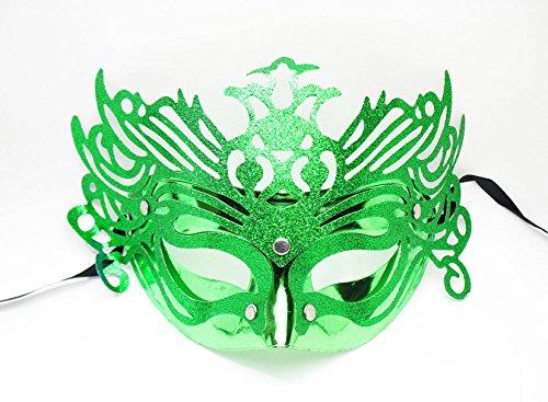 アップドラフト ベネチアンマスク 3個セット 仮面舞踏会 マスカレード 衣装 ハロウィン (グリーン)