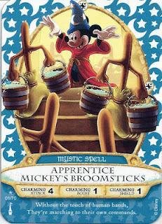 Sorcerers Mask of the Magic Kingdom Game, Walt Disney World - Card #01 - Apprentice Mickey's Broomsticks - 1