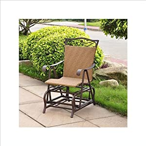 VALENCIA RESIN WICKER and STEEL PATIO/PORCH GLIDER - PATIO FURNITURE from International Caravan