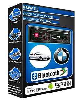 BMW Z3 E36 autoradio Alpine UTE 72BT mains-libres Bluetooth pour autoradio stéréo
