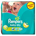 Pampers Baby Dry Size 6 Extra Large Monthly Pack - 124 Nappies