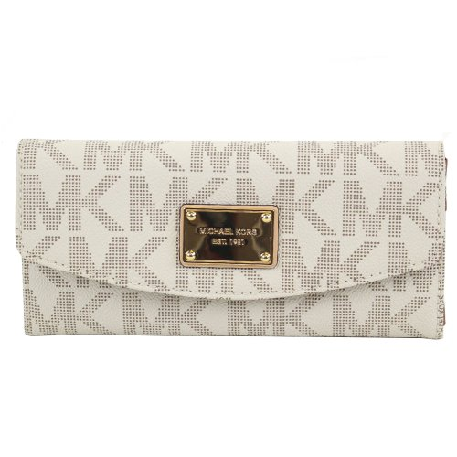 Michael Kors Women'S Signature Vanilla Slim Flap Wallet