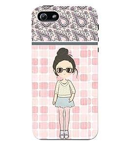 Fuson 3D Printed Girly Designer back case cover for Apple I Phone 5 / 5S - D4420