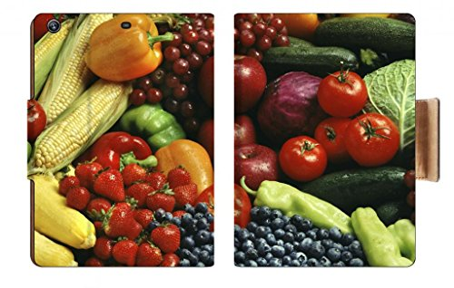 Food Fruit And Veggie Assortment Corns Red Green Peppers Strawberries Blueberries Cucumbers Tomatos Cherry Punktail'S Collections Apple Ipad Air Retina Display 5Th Flip Case Stand Smart Magnetic Cover Made To Order Premium Deluxe Pu Leather front-223088