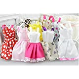 Easydan 5 PCS of Baby Girl Toy Doll Clothes Dress for 29CM Doll Random Style