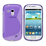 Fosmon DURA S Series Flexible TPU Cover for Samsung Galaxy S3 III mini / i8190 - Purple