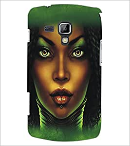 PrintDhaba Dusky Beauty D-5435 Back Case Cover for SAMSUNG GALAXY S DUOS 2 S7582 (Multi-Coloured)