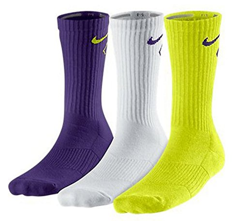 New Nike 3 Pack Boys' Graphic Cotton Cushioned Crew w/ Moist