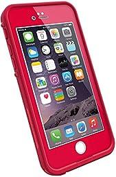 PhoneProof [ Professional Edition ] iPhone 6 Waterproof Shockproof Dirtproof Snowproof Triple Layer Kick-Stand Armor Case (Rose Red)