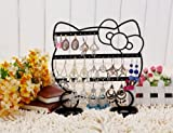 Market-one New Fashion Black Earring Stand Holder Pig Display Rack