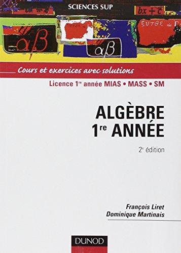 algèbre 1re année cours et exercices avec solutions