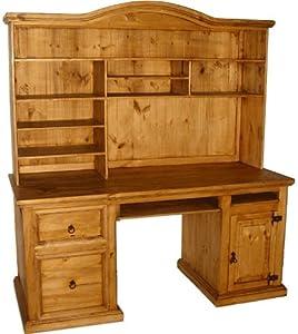 San Carlos Rustic Desk W Hutch Home Office