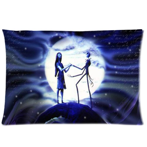 Generic Elegant The Nightmares Before Christmas Moon Car Cotton And Polyester Rectangle Standard Zippered Pillowcases Case 20 By 26 Inch front-902200