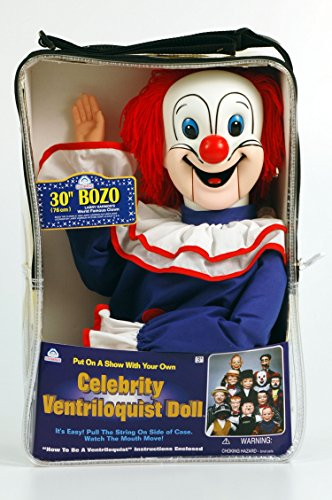 30-Bozo-the-Clown-Ventriloquist-Doll-with-Tote-Bag-and-Instruction-Booklet
