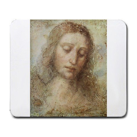 Leonardo Davinci Head Of Christ Painting Mouse Pad front-95900