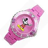 MIC002-02[ウォルト ディズニー]Disney 腕時計 ミッキー マウス時計 レディース ウォッチ 桃色ピンク