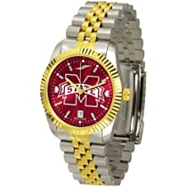 "Mississippi State Bulldogs NCAA AnoChrome ""Executive"" Mens Watch"
