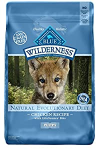 Wilderness Grain Free Dog Food Dry, Puppy Chicken Formula, 24 lb