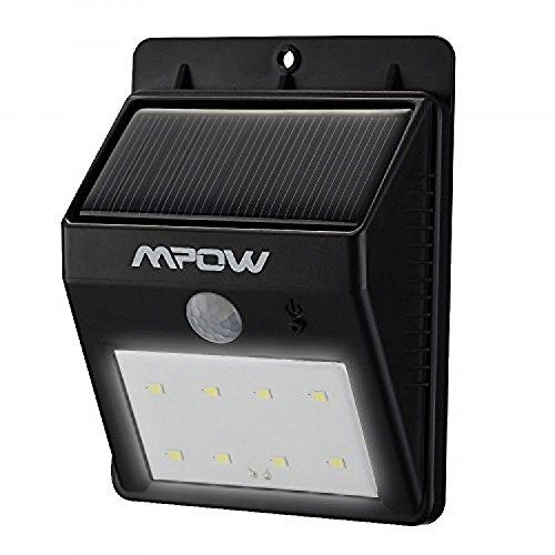 [Mpow Super Bright 8 LED Solar Powered Wireless Security Light, New, Free Shipping] (Halloween Free Shipping)