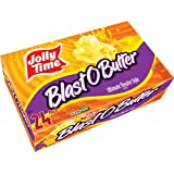 Jolly Time Blast O Butter Ultimate Movie Theatre Microwave Popcorn, Bulk 24-Count Box