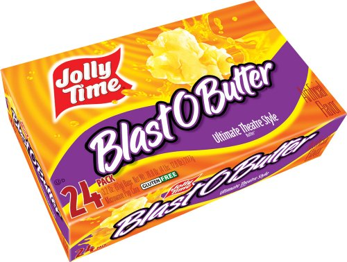 Jolly Time Blast O Butter Ultimate Movie Theatre Microwave Popcorn, Bulk 24-Count Box (Popcorn Jolly Time compare prices)