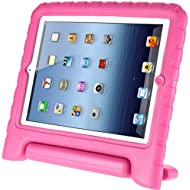 Afranker Ipad Mini / Mini 2 Shockproof Case Light Weight Kids Case Super Protection Cover Handle Stand Case for Kids Children for Apple Ipad Mini / Mini 2 Pink