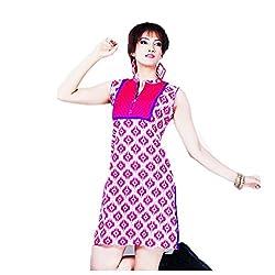 Kaya Women's Cotton Kurti (005KUCO006_Multi-Coloured_X-Large)
