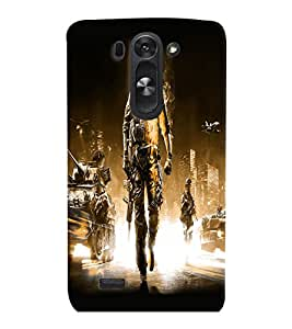 PrintVisa LGG3BEAT-Fighter Army Plastic Back Cover (Multicolor)