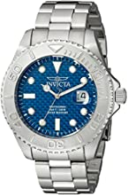 Invicta Pro Diver Men's Quartz Watch with Blue Dial  Analogue display on Silver Stainless Steel Bracelet 15176
