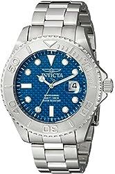Invicta Men's 15176 Pro Diver Analog Display Swiss Quartz Silver Watch