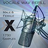 VOCALS PACK #1 - Male & Female Mixed Studio Vocal Acapellas - WAV PACK Samples