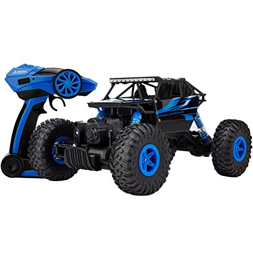 Three-King-118th-24Ghz-electric-remote-control-cars-buggy-model-cars-4x4-RC-Rock-Off-Road-Vehicle-Toy-4-WD-Monster-Crawler-Truck-Blue