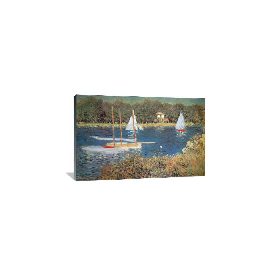 Bassin DArgenteuil   Gallery Wrapped Canvas   Museum Quality  Size 36 x 24 by Claude Monet
