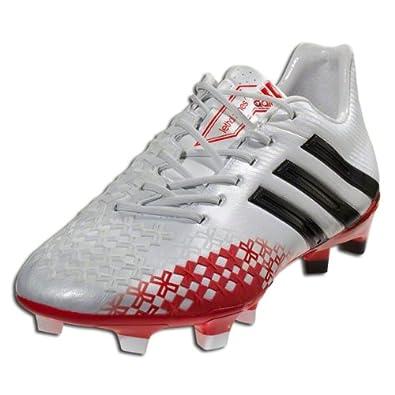 adidas Predator LZ TRX FG - (White Black Red) by adidas