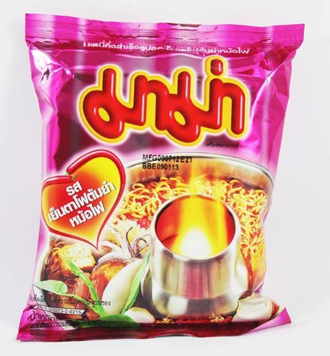 Thai Mama Instant Noodles Yentafo Tom Yum Mohfai Flavour 60g - 6 Packs (Kettle Spicy Thai compare prices)