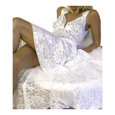 Sexy Mary Green Vintage 40's Styled Bridal White Long Gown