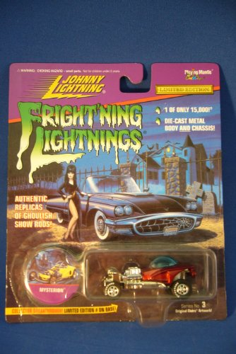 Frightning lightnings JOHNNY LIGHTNING limited edition BOOTHILL EXPRESS grey series 3 (Elvira artwork on card)
