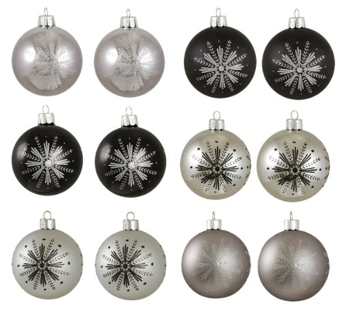 Black and silver christmas ornaments - Black and silver christmas ...
