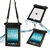 32nd® Waterproof bag pouch case cover for Apple iPad 2 3 4 - Black