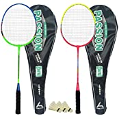 Guru Passion BR08 COMBO-03 Badminton Racket Set Pack Of Two With Two Cover & 3 Shuttlecock Size: 27 Inch