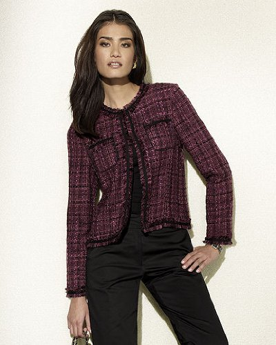 Spiegel Fringed Tweed Cropped Jacket