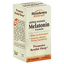 Sundown Naturals Melatonin, Capsules, 90 capsules
