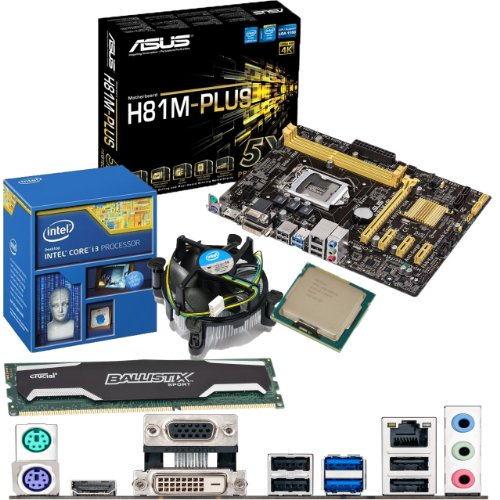 Intel Core I3 4130 3.4ghz, Asus H81m-plus Motherboard & 4gb 1600mhz Ddr3 Crucial Ballistix Sport Ram Bundle Picture