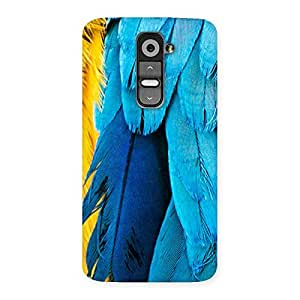 Special Blue Feathur Back Case Cover for LG G2