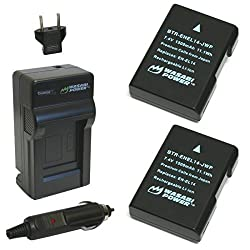 Wasabi Power Battery (2-Pack) and Charger for Nikon EN-EL14 EN-EL14a and Nikon P7000 P7100 P7700 P7800 D3100 D3200 D3300 D5100 D5200 D5300 Df (Fully Decoded)