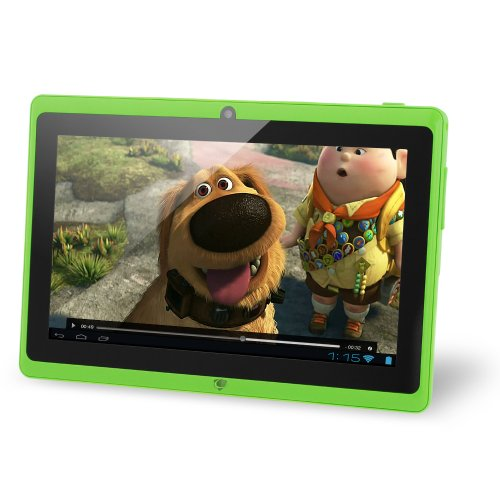 "NORIA JR. 8GB 7"" Tablet, Android Jellybean 4.1, Dual Camera, HDMI, 3G Capable, Dual Core 1.2 GHz- Green"