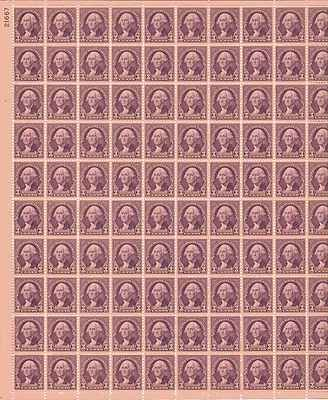 George Washington Sheet of 100 x 3 Cent US Postage Stamps NEW Scot 720